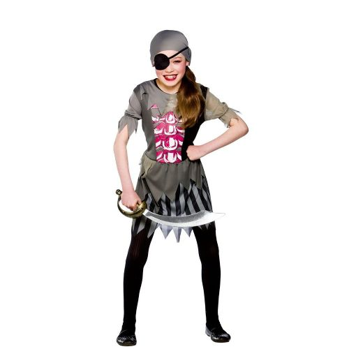 Girls Zombie Pirate Girl Halloween Costume for Fancy Dress Childrens Kids Childs